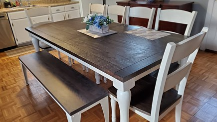 West Harwich Cape Cod vacation rental - Kitchen - table expands to fit 12