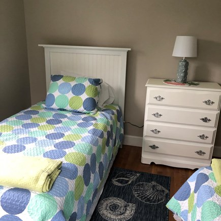 Bayside in East Dennis Cape Cod vacation rental - Third bedroom with twin beds, dresser and night stand