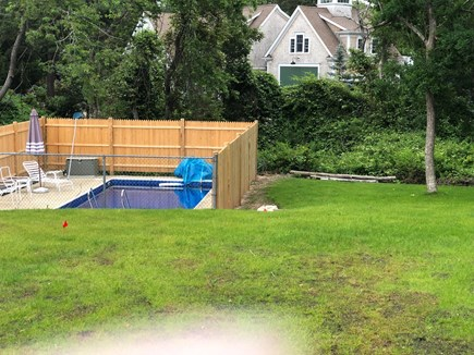 Bayside in East Dennis Cape Cod vacation rental - Pool and side yard