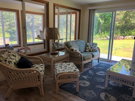 Bayside in East Dennis Cape Cod vacation rental - Den and sunroom