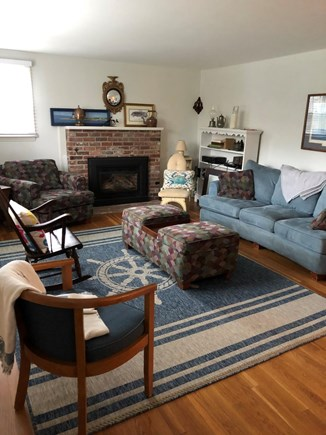 Bayside in East Dennis Cape Cod vacation rental - main living room with large smart TV