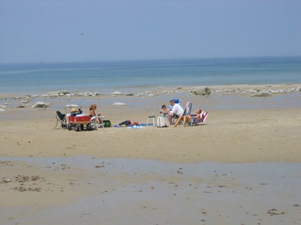 Quivet Neck, East Dennis Cape Cod vacation rental - Low tide at Sea Street Beach just 1/4 mile away