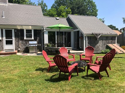 Quivet Neck, East Dennis Cape Cod vacation rental - Fire pit with seating for 6