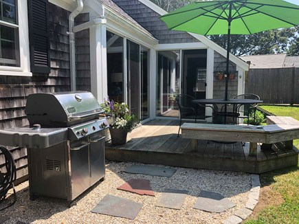 Quivet Neck, East Dennis Cape Cod vacation rental - Deck and gas grill
