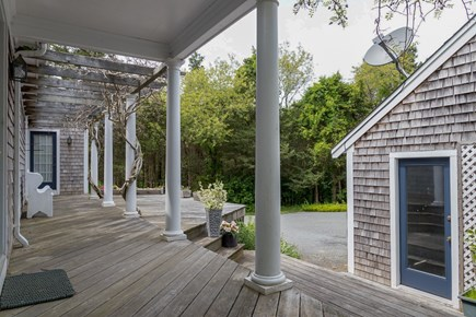 Brewster Cape Cod vacation rental - Another view of porch and pergola