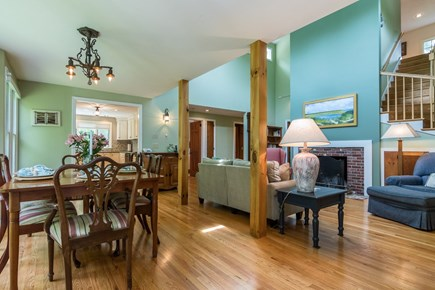 Brewster Cape Cod vacation rental - Living, dining and kitchen are conveniently laid out