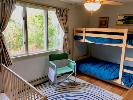 Orleans Cape Cod vacation rental - Bedroom#4 with bunkbed (2 Twins) & crib
