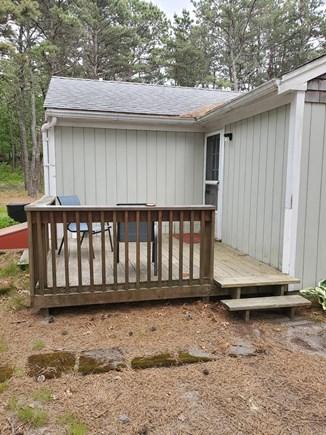 Wellfleet Cape Cod vacation rental - Private little deck off the back door