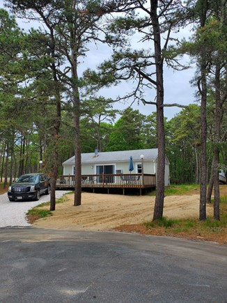 Wellfleet Cape Cod vacation rental - View of the front of the house from the culdesac