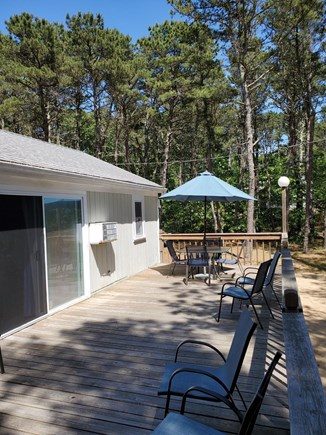 Wellfleet Cape Cod vacation rental - This is the front deck it runs the entire front of the house