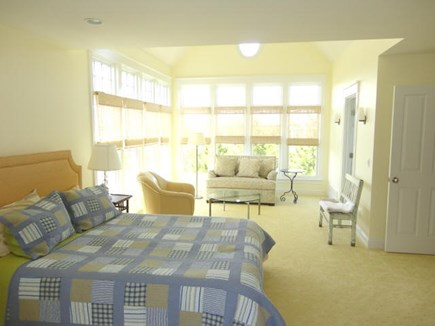 West Yarmouth Cape Cod vacation rental - 2nd floor Master Bedroom with seating area and full bath