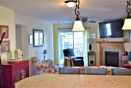 West Yarmouth Cape Cod vacation rental - Kitchen island open to the living room
