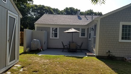 West Yarmouth Cape Cod vacation rental - Backyard Patio and enclosed outdoor shower