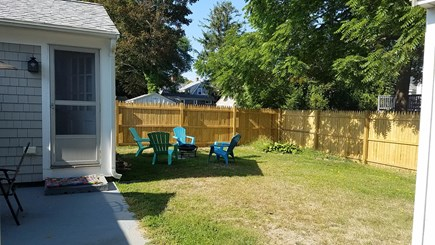 West Yarmouth Cape Cod vacation rental - Backyard firepit