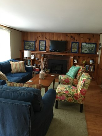 West Yarmouth Cape Cod vacation rental - Living room with A/C unit