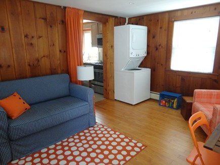 West Yarmouth Cape Cod vacation rental - Den with pull-out sofa and washer/dryer
