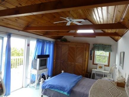 Wellfleet Oceanfront Home Cape Cod vacation rental - Master Bedroom 2 6' Sliders open onto 12x22' deck