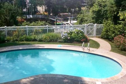 New Seabury New Seabury vacation rental - Pool & dock from large top floor deck off Kitchen/Living Room