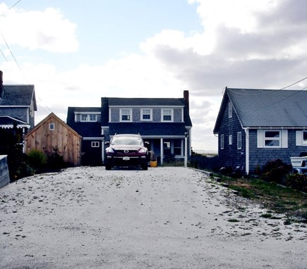 North Truro Cape Cod vacation rental - Large shell driveway can accommodate up to 4 cars.
