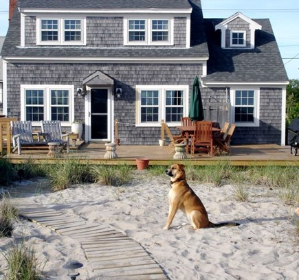North Truro Cape Cod vacation rental - View of Cottage from the private beach
