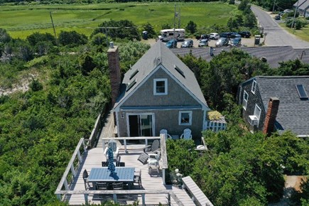 East Sandwich Cape Cod vacation rental - Aerial view of home and deck