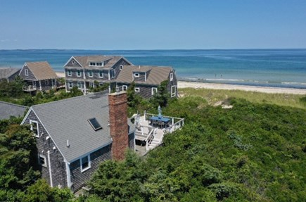 East Sandwich Cape Cod vacation rental - View of property showing beach