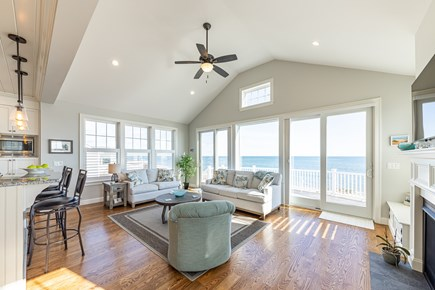 Mashpee, Popponesset Cape Cod vacation rental - Living room and deck