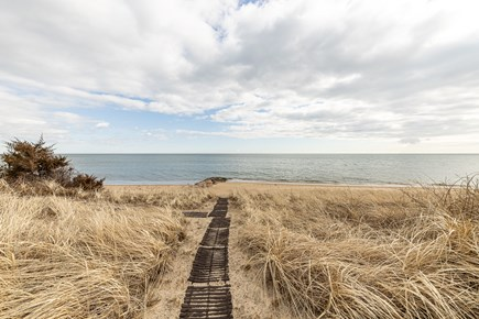 Mashpee, Popponesset Cape Cod vacation rental - Private path from home to beach