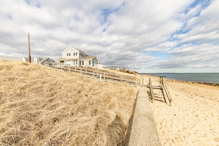 Mashpee, Popponesset Cape Cod vacation rental - Beach view w/home in background, looking towards the Spit!