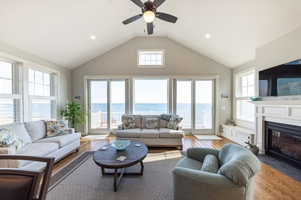Mashpee, Popponesset Cape Cod vacation rental - Living room with ocean view