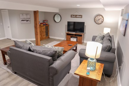 Chatham Cape Cod vacation rental - Lower level has a third lounge area with couches and another TV.