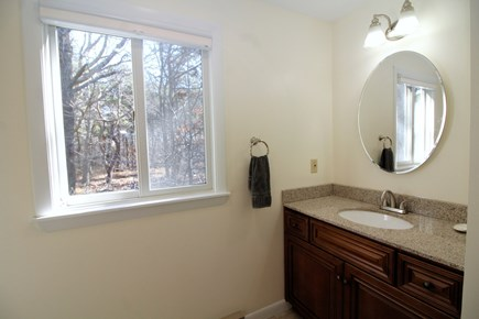 Truro Cape Cod vacation rental - Spacious bathroom has a stall shower.