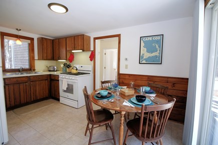 Truro Cape Cod vacation rental - Eat-in kitchen comfortably accommodates four