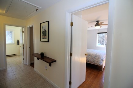 Truro Cape Cod vacation rental - Entry hall to bedrooms and bathroom