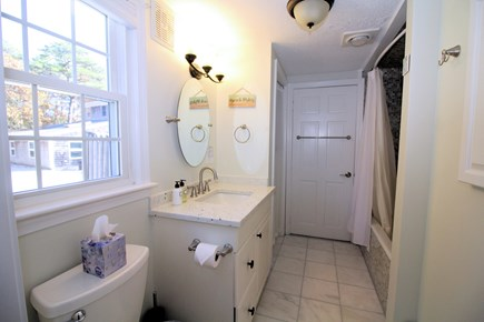 Eastham Cape Cod vacation rental - First floor master en suite bathroom with tub/shower