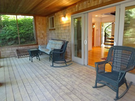 Wellfleet Cape Cod vacation rental - Screened in porch.