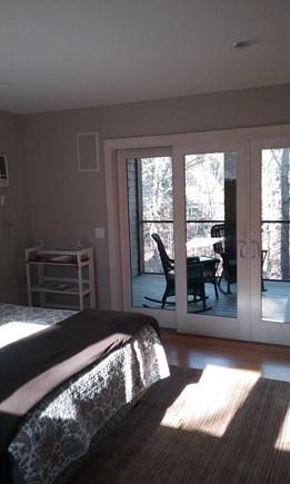 Wellfleet Cape Cod vacation rental - Doors to screened in porch form bedroom.