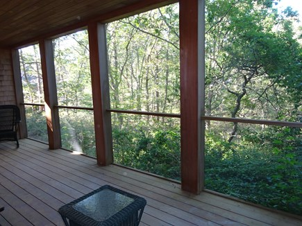 Wellfleet Cape Cod vacation rental - Looking out from the screened in porch.
