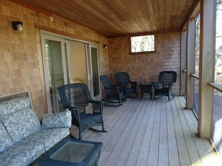 Wellfleet Cape Cod vacation rental - Full screened in porch.