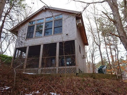 Wellfleet Cape Cod vacation rental - Top windows for Living area, entry level, bottom screened porch.