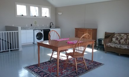 Wellfleet Cape Cod vacation rental - Entry level kitchen, dining, living. More furniture in process.