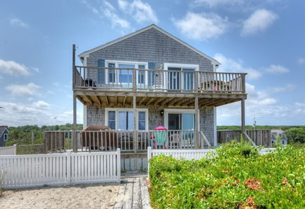 East Sandwich Cape Cod vacation rental - View of cottage from the dunes.