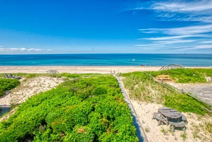 East Sandwich Cape Cod vacation rental - Pathway through the dunes to private beach.