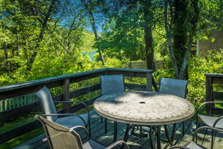 West Dennis Cape Cod vacation rental - Outdoor dining on Deck