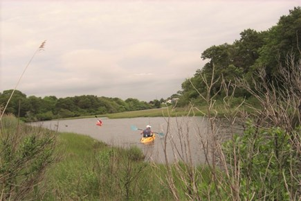 West Dennis Cape Cod vacation rental - Boating from Backyard