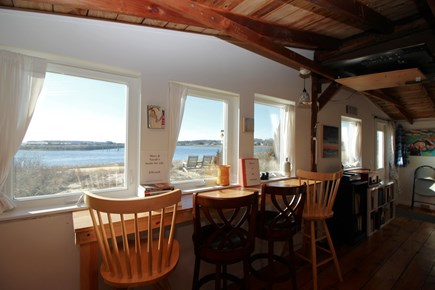 Wellfleet Cape Cod vacation rental - Counter seating looks out over Wellfleet Harbor