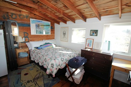 Wellfleet Cape Cod vacation rental - Queen bed tucked in the corner of main living area