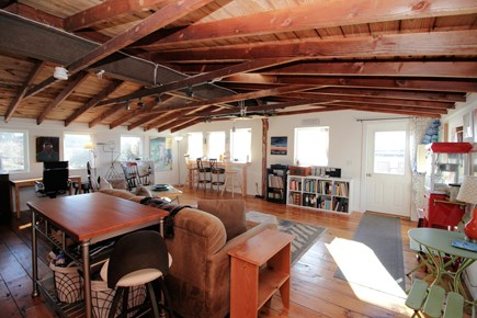 Wellfleet Cape Cod vacation rental - Living room with comfortable seating and water views