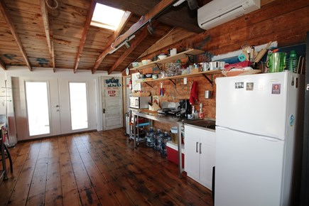Wellfleet Cape Cod vacation rental - Kitchen area with microwave and hot plates