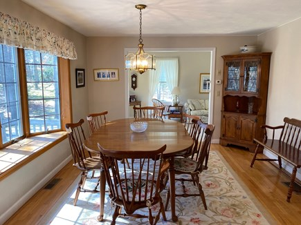 Dennis Cape Cod vacation rental - Dining Room View West